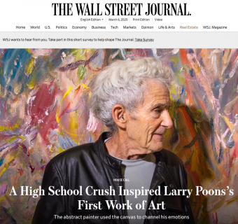 """Larry Poons """"Rock and Roll"""" Featured in The Wall Street Journal"""