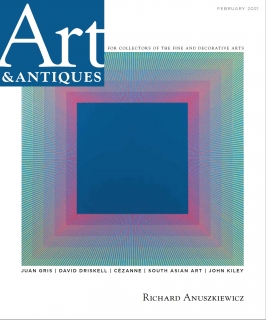 Richard Anuszkiewicz Featured in Art & Antiques Magazine