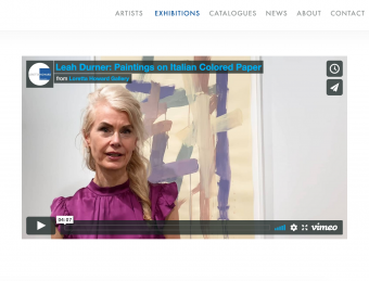 Leah Durner: Paintings on Italian Colored Paper Video