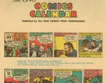 TRUE COMICS CALENDAR 1946