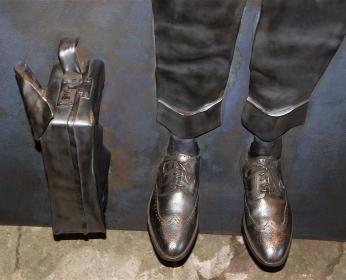 Bronze and Lead sculptures