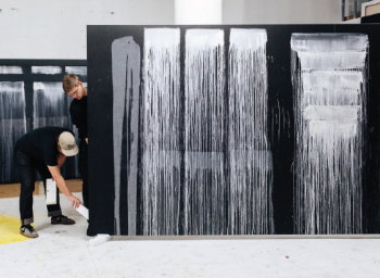 Pat Steir: The New York Times