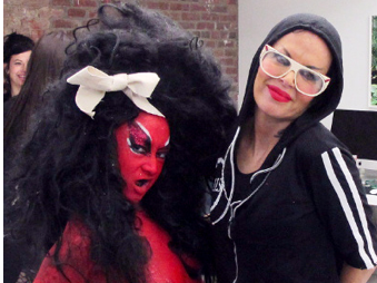 """New York: E.V. Day and Kembra Pfahler, Opening of 'Giverny"""" and """"An Oje at the Hole' at the Hole"""