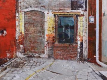 Dale O. Roberts, Brick Wall, Encaustic