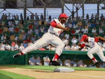 Max Mason, Baseball, Oil On Canvas
