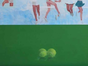 Two Balls, Oil On Board, Joseph Lozano