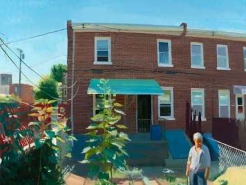 Jan's Garden in July, Oil on canvas, 68 x 64