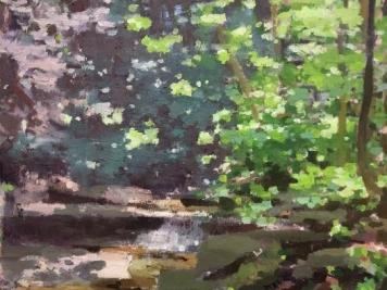 """Summer Glen 30"""" x 34"""" Oil On Canvas"""