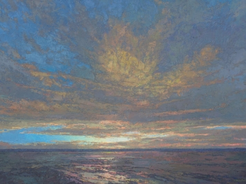 Thomas Paquette, Oil On Canvas, Sunset