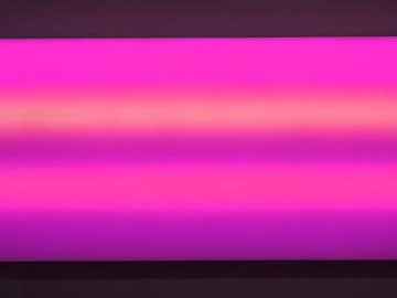 LEO VILLAREAL Sky 2009, digital light sculpture, 36 x 96 inches