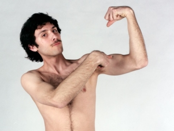 NATHANIEL FINK Evan (from Check Out These Guns) 2008, C-print, 15 x 15 inches.