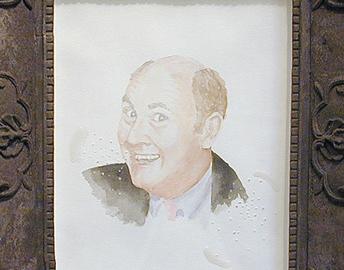 Willard Scott drawing