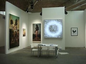 LEO VILLAREAL, ERIK THOR SANDBERG and KOEN VANMECHELEN 2009. Installation view: booth K3, VOLTA5 Basel.