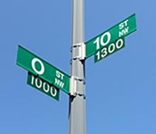 O street sign