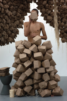 Wilmer Wilson IV. From My Paper Bag Colored Heart (detail), 2012. Performance, dimensions variable.