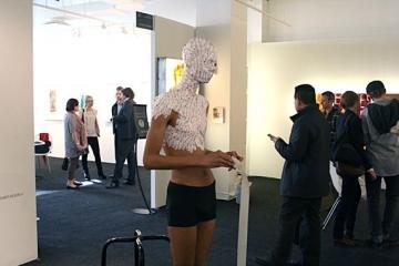 wilmer WILSON IV  2012, performance. Installation view: VOLTA NY.