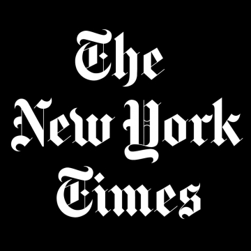 "NY Times logo for ""Chasing a Dream and an Unalloyed Ethos"" by Martha Schwendener, 2014"