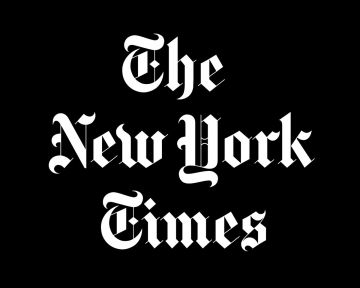 "NY Times logo for ""New York Art Galleries: What to See Right Now"" by Will Heinrich, 2019"