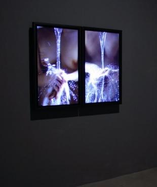 BILL VIOLA Ablutions (installation view), 2005