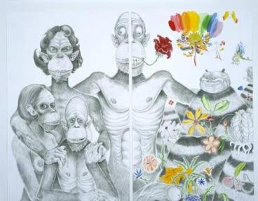 Family Portrait (Mound Half and Ape Half), 2003
