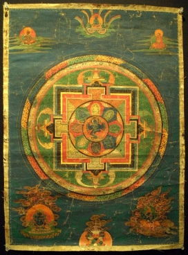 Vajrayogini Mandala Thangka, Tibet, Early 19th Century, mineral colors on sized fabric, attributed to the Nyingma Order