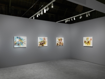 Installation view, Matthew Ritchie at The Art Show, presented by the Art Dealers Association of America, February 28- March 3, 2019.