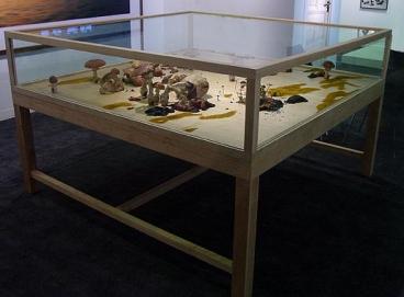 ROXY PAINE, wood, glass, polymer, paint, 48 x 72 x 72 inches x 15 x 13 feet