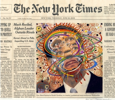 Fred Tomaselli at the Orange County Museum of Art
