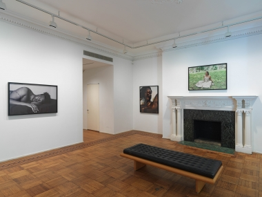 This is an image of the Texas Isaiah exhibition of Tilton Gallery.  The exhibition features framed photographs by Texas Isaiah.