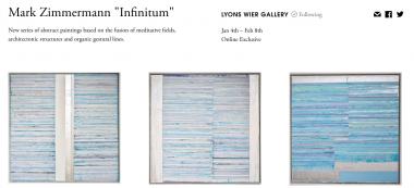 https://www.artsy.net/show/lyons-wier-gallery-mark-zimmermann-infinitum