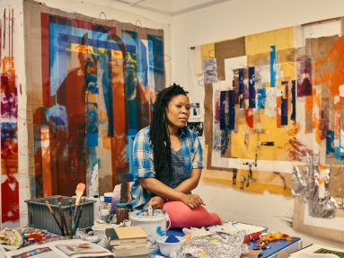 Ms. Jackson in her Brooklyn studio. Credit: Christopher Gregory for The New York Times