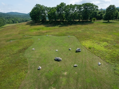 "Martha Tuttle ""a stone that thinks of Enceladus"" at Storm King (Jeffrey Jenkins/ Care of Storm King Art Center)"
