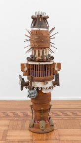 "Noah Purifoy, ""Totem"", circa 1966, mixed media assemblage, 56 by 19 inches"