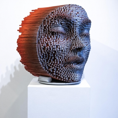 "HEADS WILL TURN FOR GIL BRUVEL'S ""BENDING THE LINES"" @ LA ART SHOW MODERN & CONTEMPORARY, 2019"