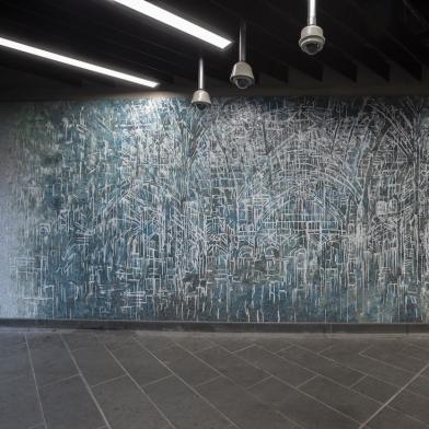 Diana Al-Hadid's Subway Mosaics