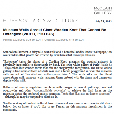July 2013 Huffpost Arts & Culture