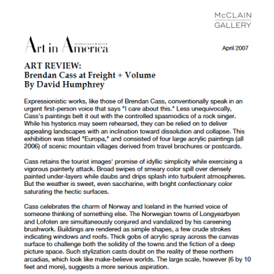 April 2007 Art in America