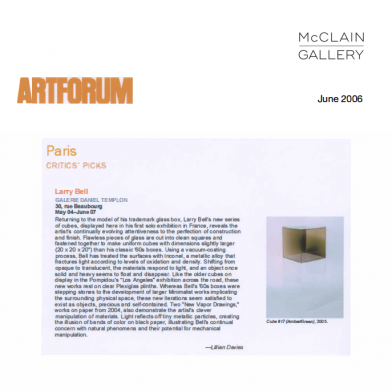 June 2006 Artforum