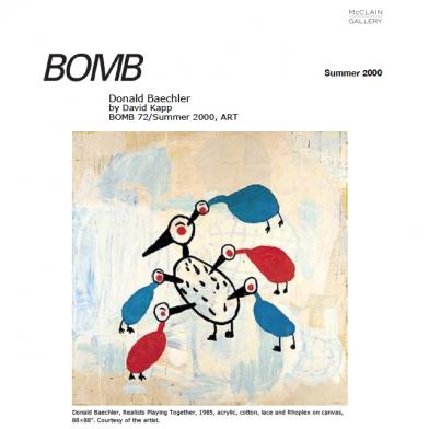 June 2000 BOMB Magazine
