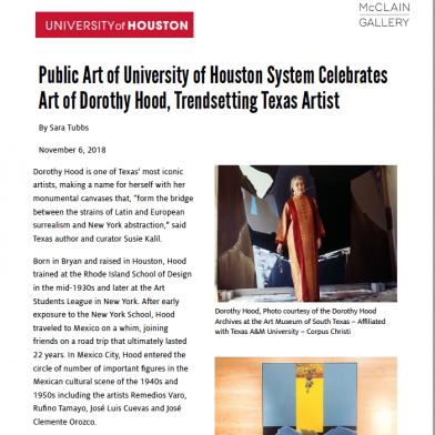 November 2018 University of Houston