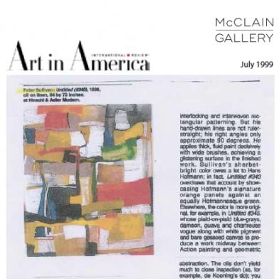 July 1999 Art in America
