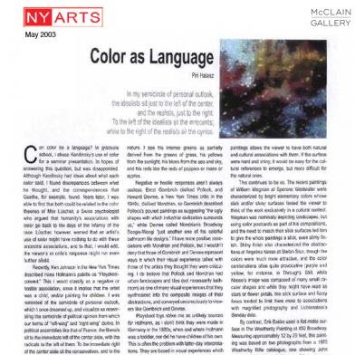 May 2003 NY Arts