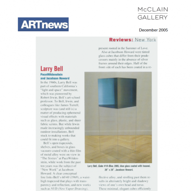 December 2005 ARTnews