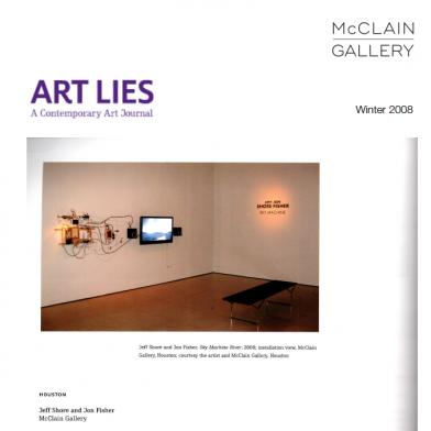 November 2008 Art Lies