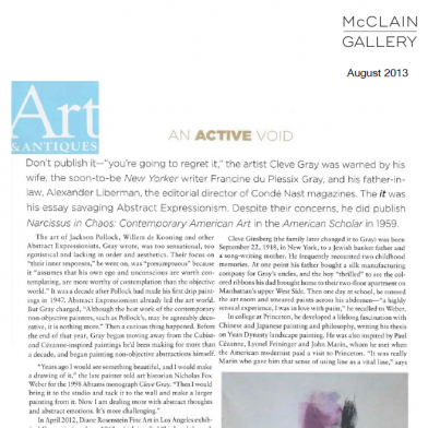 August 2013 Art & Antiques
