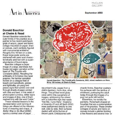 September 2003 Art in America
