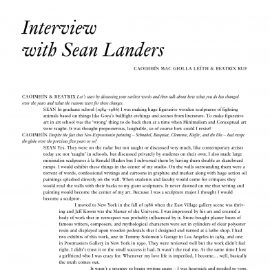 Interview with Sean Landers
