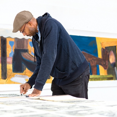 Enrico Riley featured in Art New England