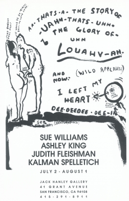 Sue Williams, Ashley King, Judith Fleishman, and Kalman Spelletich