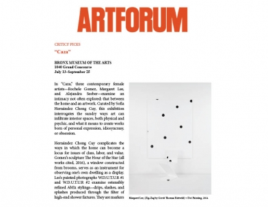 Margaret Lee in Artforum